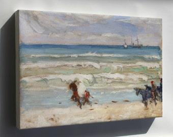 Canvas 16x24; James Wilson Morrice Beach Scene, Tangier
