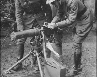16x24 Poster; M1917 Browning Machine Gun Is A Heavy Machine Gun Val Browning