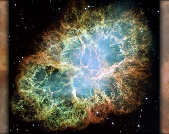 16x24 Poster; Crab Nebula Hst