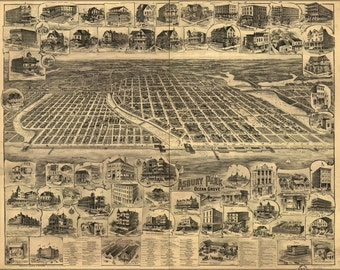 16x24 Poster; Map Of Asbury Park Ocean Grove New Jersey 1897