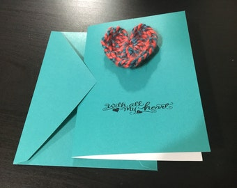 Knitted Heart Greeting Card