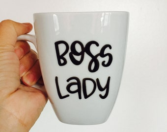 Boss Lady. Girl Boss. Coffee Mug. Boss Mug. Lady Boss. Coworker Gift. Unique Coffee Mug. Office Mug. Gift for boss. Gift for Women. Gifts