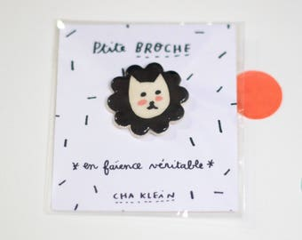 Brooch *Black cat*