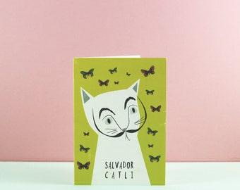 Salvador Dali Cat Card