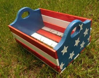 Patriotic Rustic Crate