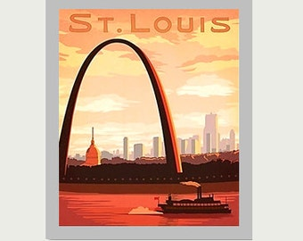 St. Louis Decal - Missouri Decal - Vintage Style Decal - St. Louis Car Decal - St. Louis RV Decal - St. Louis Laptop Decal  - S94