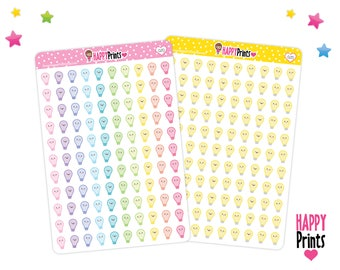 Kawaii Light bulb Planner Stickers, Planner Stickers, perfect for Planners, Erin Condren, Plum Paper, Limelife, Filofax...