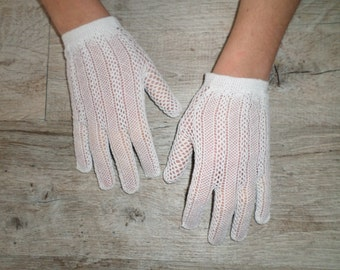 white gloves vintage crochet
