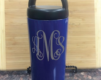 Royal Blue Laser Engraved 18 Oz RTIC Bottle, Royal Blue Monogram Laser Engraved 18 Oz RTIC Bottle, Royal Blue Personalized Engraved RTIC