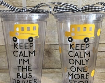 School Bus Driver Tumbler-End Of The Year-Bus Driver Appreciation-Thank You Gift!