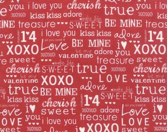 Moda First Crush Love Words in Red 5607 22
