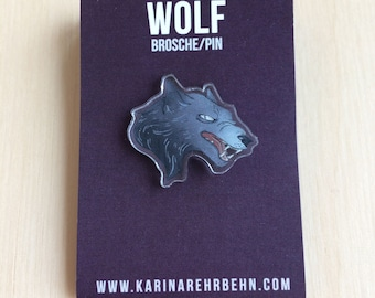 Wolf brooch / pin