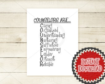 Counselor Stands For Back to School PRINTABLE Quote Teacher Typography Word Art Classroom Wall Decor Gift for Counselor Office Decor 0001d