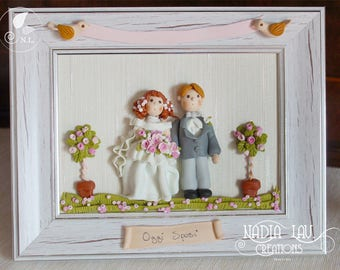 Picture Frame of married couple custo customizable