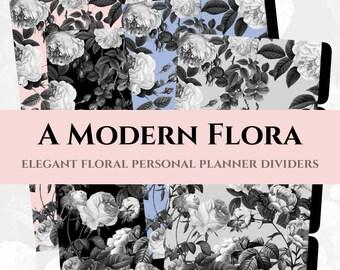 Printable Personal Planner Dividers - customizable tabs for Filofax, Kikki K, Dokibook, Wellesley