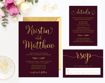 Wedding Invitation Kits Etsy CA