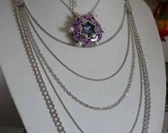 Lariat & Y necklace Star Pendant  Modern Geometric Pendant Multi layer necklace