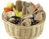 Baby Sensory Treasure Basket Montessori Educational Wooden Toy Baby Gift