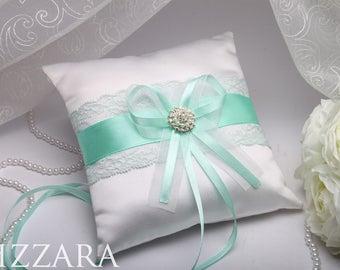 Mint Wedding Set Pillows Ring Bearer Decor wedding ideas Wedding accessories ring holder Wedding green Bearer & Mint ring pillow   Etsy pillowsntoast.com