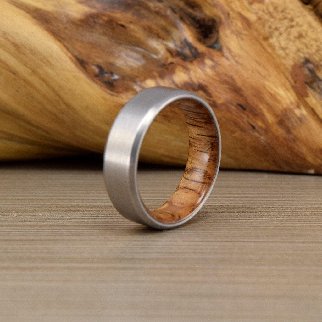 mens wood ring mens cable wedding band Titanium Red Oak Men s Wedding Ring Engagement Ring Men s Wedding Band Women s Ring Titanium Wood Ring Wedding Band