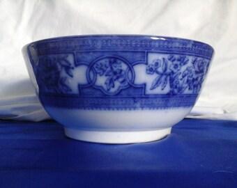 Vintage Blue & White Patterned Bowl