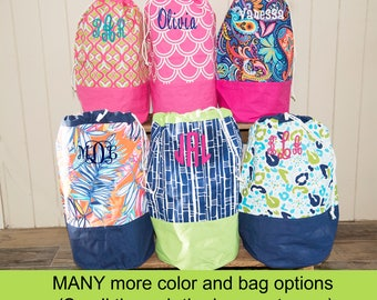 Monogrammed Laundry Bag - Graduation Gift - Laundry Hamper - Monogram Laundry Basket - Monogram Clothes Hamper