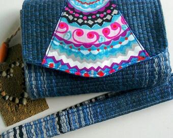 Small Wristlet Clutch Wallet With Detachable wrist strap. Multi compartment Purse