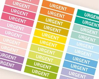 Urgent Heading stickers, planner header stickers, planner stickers, agenda notebook journal stickers, reminder