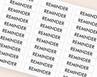 30 black reminder stickers, plan stickers, header stickers, transparent clear stickers, ec filofax kikki.k planner stickers