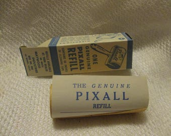 Vintage Pixall Lint Remover with 3 refills in original gift box