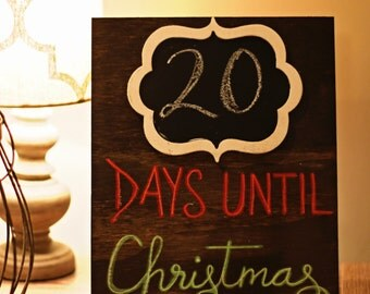 Wooden Days Until Christmas Sign