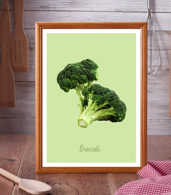 Broccoli // Kitchen Art // Unique A4 / A3 Art Print