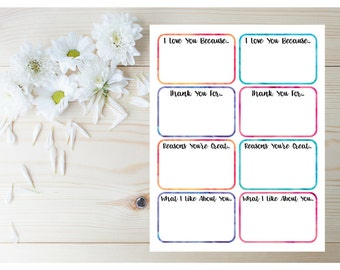 Just Because Gift - Printable Encouragement Cards - Love Notes - Lunchbox Notes - Sympathy Cards - Encouragement Gift - Just Because Cards