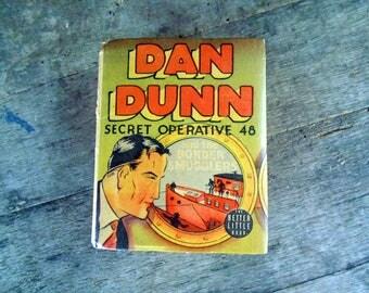 Big Little Book. Dan Dunn Secret Operative 48 and the Border Smugglers. 1938 Childrens Book.