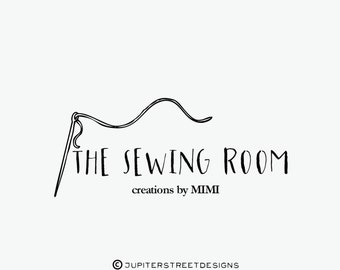 Sewing Logo-Small Business Logo-Craft Logo