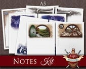 Printable Notes Pages, Planner Inserts | EPIC FANTASY | A5 Filofax | Notes kit