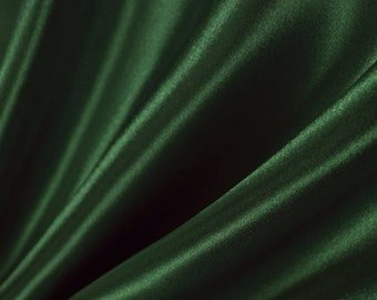 Hunter Green Satin Fabric 60 Inches Wide for Weddings, Decor, Gowns, Sheets, Costumes, Dresses