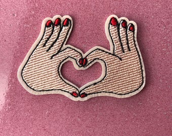 Patch with Heart Fingers