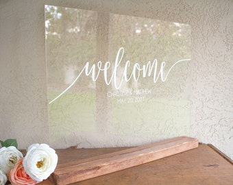 Wedding Welcome Sign - Acrylic Wedding Sign - Large Wedding Sign - Welcome Wedding Sign - Acrylic Welcome Sign - Wedding Welcome Signs