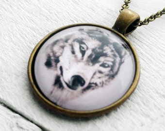 Wolf Head Pendant & Necklace