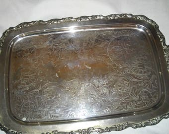 Silver Plated Oneida Serving Tray