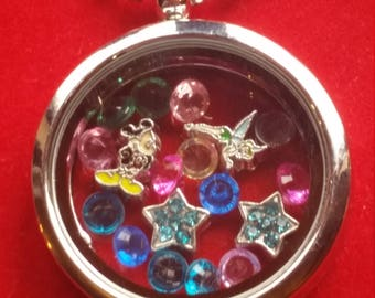 Disney Mickey Mouse Tinkerbell Living Locket Necklace free shipping