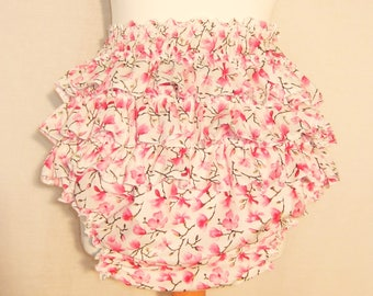 ONLY 40GBP Adult Baby Pink Floral Frilly Sissy Panties Nappy Cover Skirt