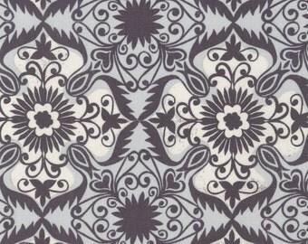 Jasmine by Valori Wells for Robert Kaufman - Charcoal Damask - Cotton Woven Fabric