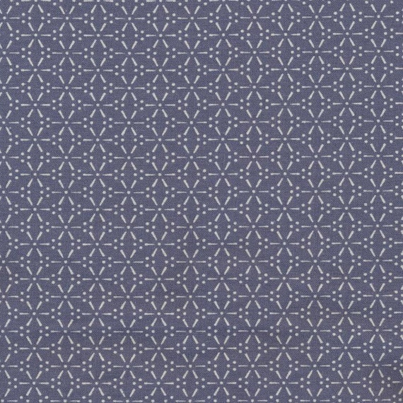 Au maison oilcloth sakura stone blue blue coated cotton 1 for Au maison oilcloth