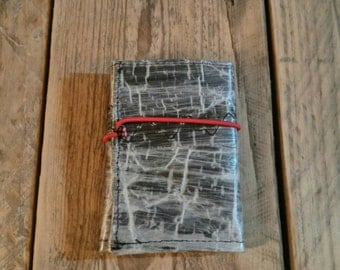 Upcycled sail Wallet carbon laminate