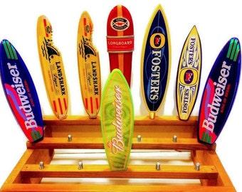 Surfboard Tap Handles Kona-Landshark-Budweiser-Fosters-Surfer Surfing Gifts-Surf Decor-Bar Taps-Keg Tapper-Kegerator-Homebrew-Boyfriend-Gift