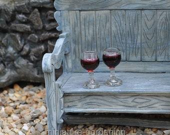 Stemmed Glasses for Miniature Garden, Fairy Garden