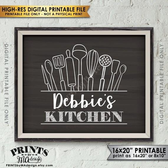 Kitchen Sign Kitchen Decor Wall Art Custom Kitchen