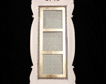 Gold & White Chalk Painted Picture Frame